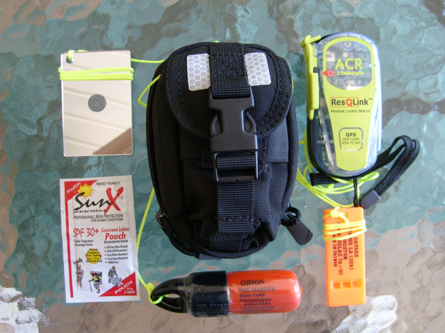 AST Deluxe Signal Kit w/ ACR ResQLink PLB w/GPS/Real Time Tracking/Strobe Light in Molle Case